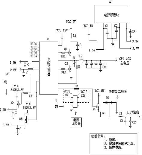 CPU单相供电电路图