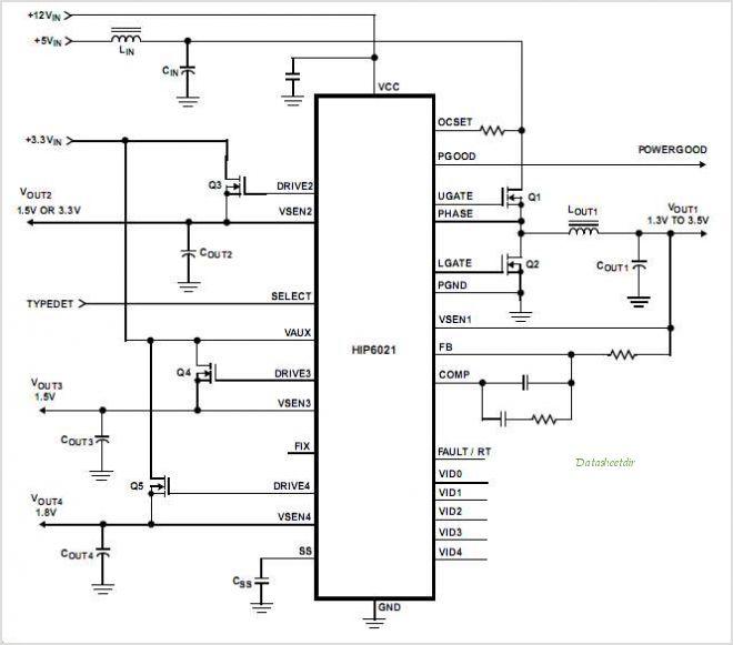 公版HIP6021电源IC电路图