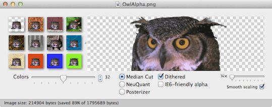Mac系统下的ImageAlpha图片压缩软件