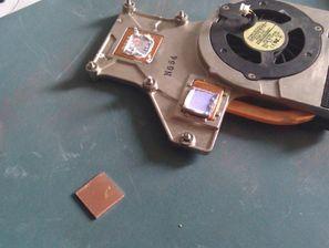 给HP DV3802加装散热铜片