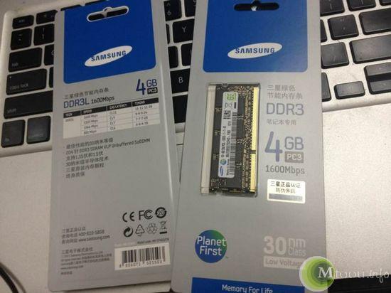 三星4G DDR 1600笔记本内存条