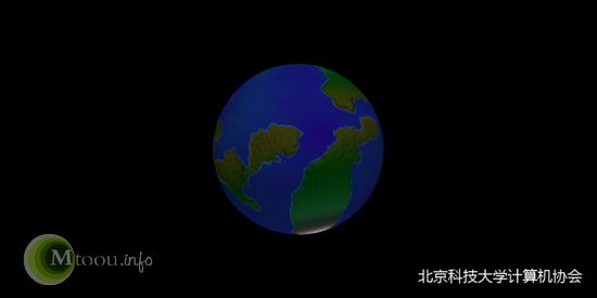 再画圆形地球陆地凹凸