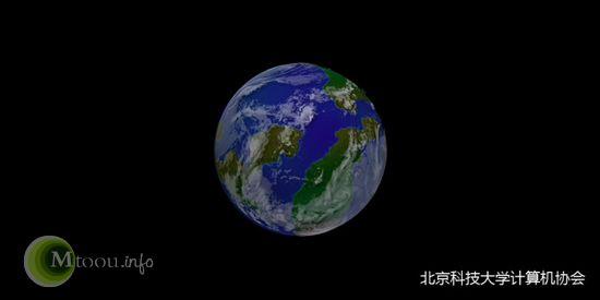 用PS画的带有云彩的地球