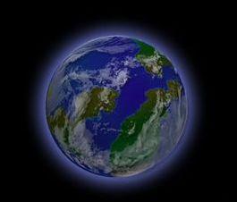 PS画地球