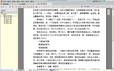超星阅读器打开pdg格式文件的界面