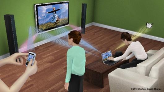 利用WiGig技术实现多设备无线同步显示