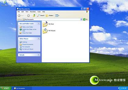 经典的Windows XP系统的桌面环境就是explorer.exe提供的
