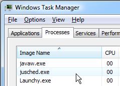 任务管理器中的jusched.exe进程
