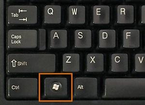 Win徽标键显示桌面